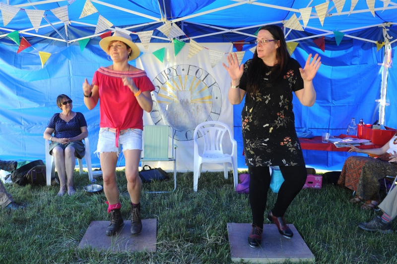 Acoustic tent BFP Stepping with Fiona