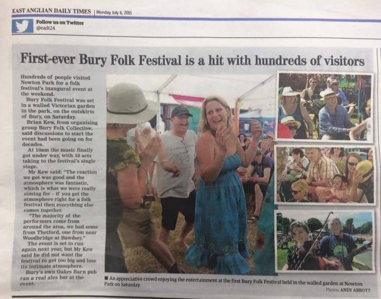 eadt Newspaper article
